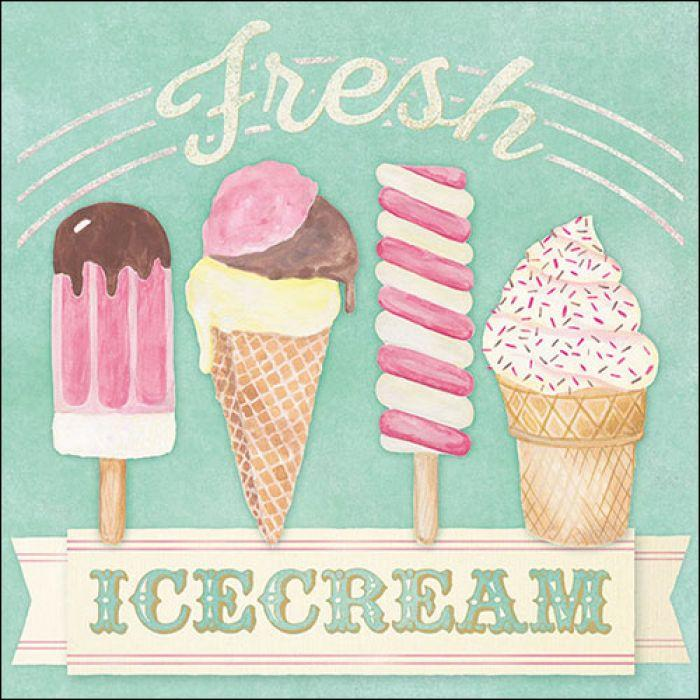 Servietten *Fresh Ice Creme*