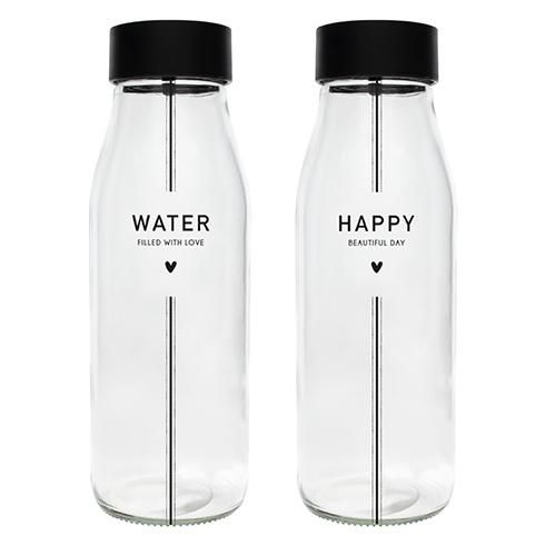 Glaskaraffe *Water & Happy*